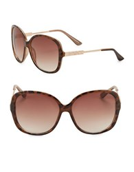 Vince Camuto 64Mm Oversized Square Sunglasses Tortoise