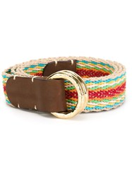 Eleventy Woven Buckle Belt Multicolour