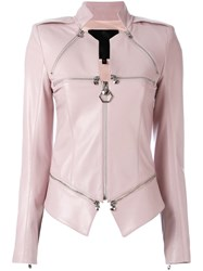 Philipp Plein Zip Detailed Jacket Pink Purple