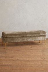 Anthropologie Slub Velvet Edlyn Bench Taupe