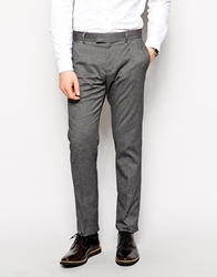 Esprit Suit Trousers With Geo Print In Slim Fit Grey027