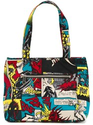 Jean Paul Gaultier Vintage Cartoon Print Tote Multicolour