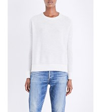 The White Company Glitter Detail Wool Blend Knitted Jumper Cloud Marl