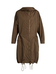 Stella Mccartney Lightweight Hooded Parka Khaki