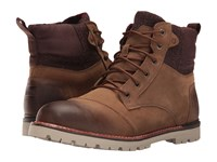 Toms Ashland Boot Brown Burnished Leather Wool Men's Lace Up Boots