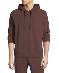 Atm Anthony Thomas Melillo Brushed Fleece Pullover Hoodie Wine