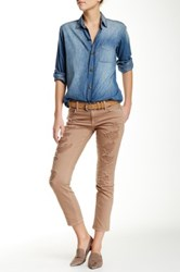 Genetic Denim Alexa Slim Boyfriend Crop Jean Beige