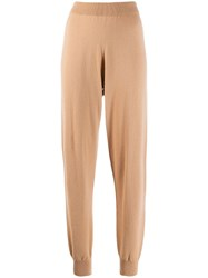 Fabiana Filippi Slim Fit Knitted Trousers Neutrals