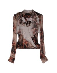 Patrizia Pepe Sera Shirts Blouses Women Brown