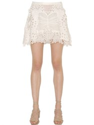 Chloe Butterfly Embroidered Tulle Lace Skirt
