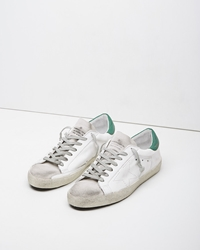 Golden Goose Super Star Sneaker White And Green