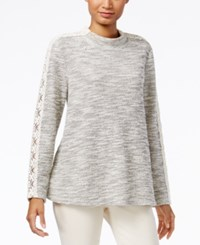 Styleandco. Style Co. Mock Neck Lace Inset Top Only At Macy's Warm Ivory