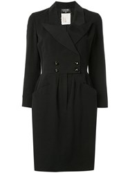 Chanel Vintage Tuxedo Dress Black