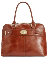 Giani Bernini Glazed Turnlock Dome Satchel Only At Macy's Tobacco