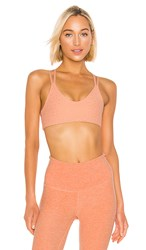 Beyond Yoga Drip Dot Bra In Peach. Coral Dust And Rose Gold Drip Dot