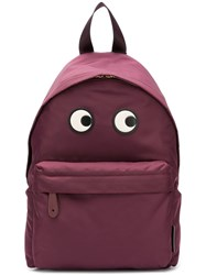Anya Hindmarch Backpack Eyes In Claret Nylon Red