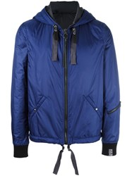 Lanvin Nylon Hooded Jacket Blue
