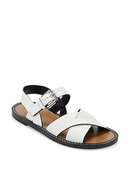 Jil Sander Open Toe Leather Sandals White