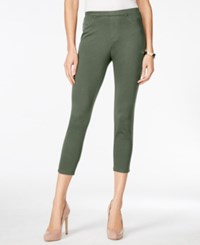 Styleandco. Style And Co. Pull On Twill Capri Leggings Only At Macy's New Pale Sage