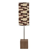 Jefdesigns Tile 4 Cuboid Table Lamp Light Brown