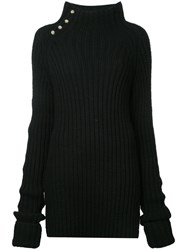 Bassike Chunky Turtle Neck Sweater Women Wool 8 Black