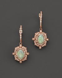 Bloomingdale's Opal And Diamond Antique Inspired Drop Earrings In 14K Rose Gold Pink