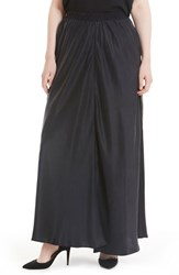 Elvi Plus Size Women's Silk Maxi Skirt