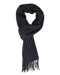 Gant Navy Striped Wool Scarf Blue