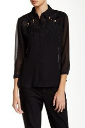 Ted Baker Nelley 3 4 Length Sleeve Blouse Black