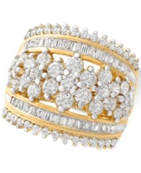 Wrapped In Love Diamond Cluster Statement Ring 2 1 2 Ct. T.W. 14K Gold Created For Macy's Yellow Gold