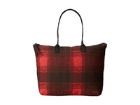 Volcom Pixie Tote Black Plaid Tote Handbags