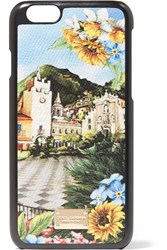 Dolce And Gabbana Printed Textured Leather Iphone 6 Case Blue