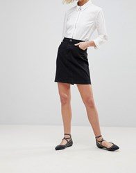 B.Young Denim Skirt Dark Grey