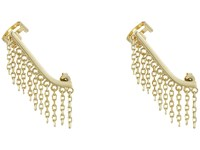 French Connection Chain Fringe Ear Cuff Earrings Gold Earring