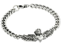 King Baby Studio Curblink Bracelet With Winged Crowned Heart