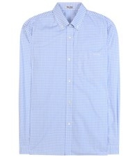 Miu Miu Gingham Cotton Shirt Blue