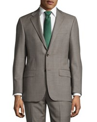 Hickey Freeman Classic Fit Sharkskin Two Piece Suit Gray