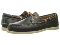 Sperry A O 2 Eye Waterloo Blue Men's Lace Up Moc Toe Shoes