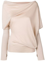 Tom Ford Asymmetric Knitted Blouse Brown