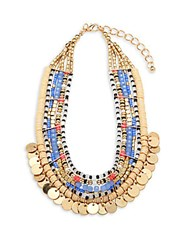 Cara Beaded Goldtone Necklace Gold Multi