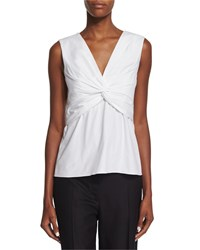 The Row Tiani Sleeveless Twist Front Top White