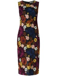 Alice Olivia Floral Embroidered Tube Dress Multicolour