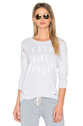 Sundry Easy Like Sunday Tee Baby Blue