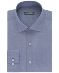 Unlisted By Kenneth Cole Men's Slim Fit Chambray Dress Shirt Blue