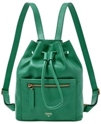 Fossil Vickery Leather Drawstring Backpack
