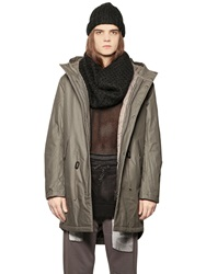 Cheap Monday Softly Waxed Cotton Canvas Parka Military Green