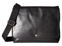 Skagen Eric Leather Messenger Black Messenger Bags