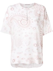 Hemisphere Paisley Print Blouse Nude And Neutrals