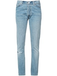 Re Done Slim Light Wash Jeans Blue