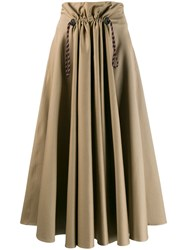 Golden Goose Ayame Pleated Front Skirt Neutrals
